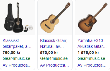 exempel-google-shopping-gitarrer